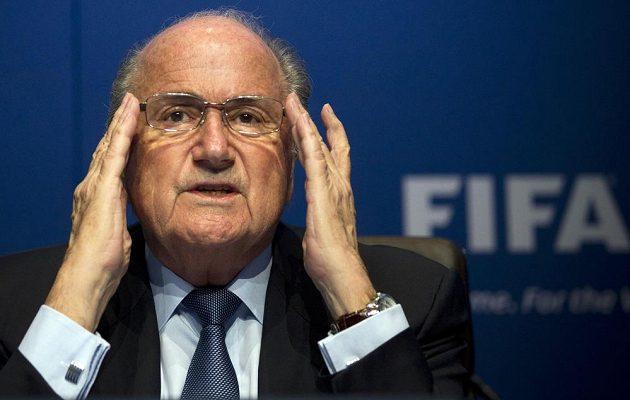 Šéf FIFA Sepp Blatter na snímku z března 2015.