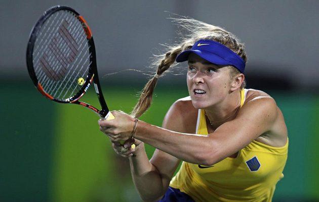 Ukrajinka Jelina Svitolinová během utkání proti Sereně Williamsové.