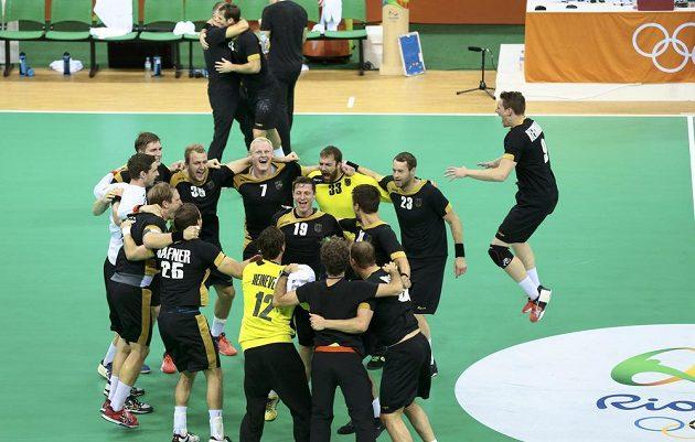 Házenkáři Německa slaví bronz na olympiádě v Riu.