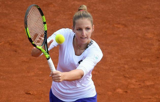Kristýna Plíšková při pražském turnaji.