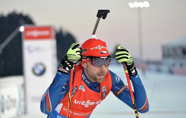 Tomáš Krupčík během sprintu při SP ve Vysočina areně.