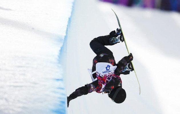 Snowboardistka Šárka Pančochová při kvalifikaci v U-rampě.