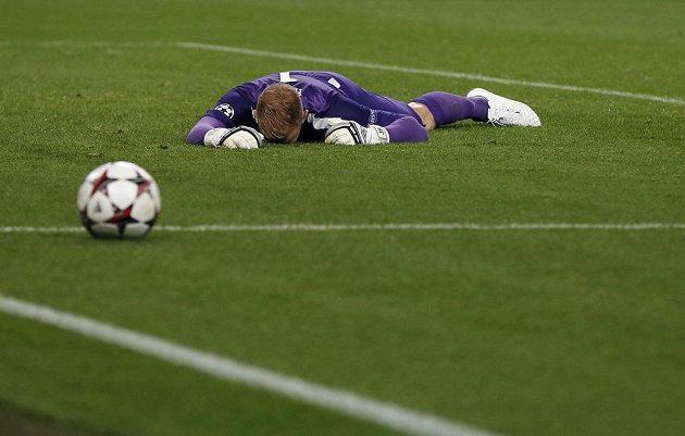 Smutný brankář Manchesteru City Joe Hart