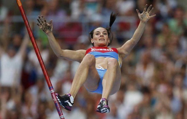 Ruská tyčkařka Jelena Isinbajevová už ví, že zdolala další výšku.