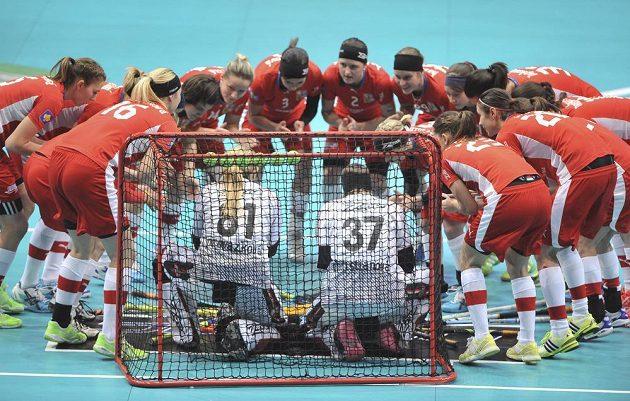 Soustředění českého týmu před začátkem semifinálového duelu se Švédskem.
