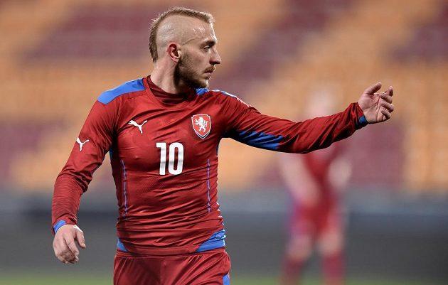Jiří Skalák během přátelského utkání české jednadvacítky s Anglií.