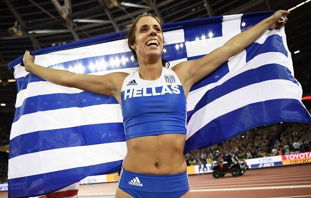 Řecká radost! Ekaterini Stefanídiová vládla v tyčkařském sektoru.