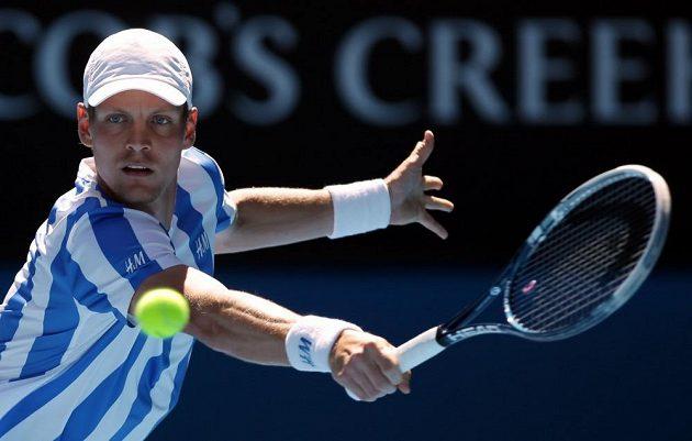 Tomáš Berdych v duelu s Davidem Ferrerem.
