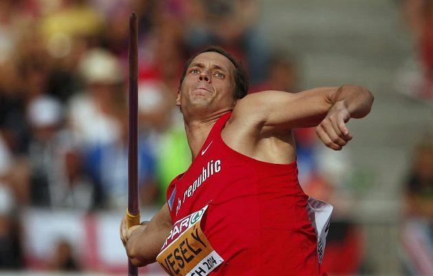 Vítězslav Veselý ve finále ME v atletice v Curychu.