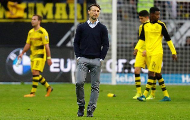 Trenér Frankfurtu Niko Kovač mohl být na svůj tým hrdý. V duelu s Dortmundem prohrával 0:2, ale vybojoval remízu.