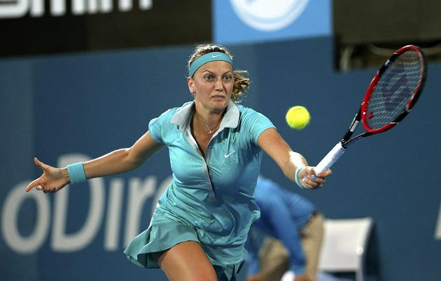 Petra Kvitová ve finále turnaje v Sydney.