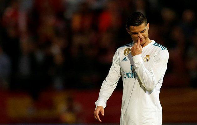Cristiano Ronaldo z Realu Madrid při utkání v Gironě.