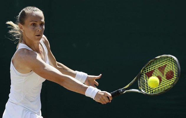 Slovenka Magdaléna Rybáriková v osmifinále Wimbledonu.