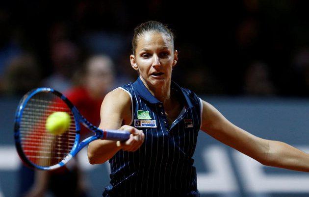 Karolína Plíšková ve finále ve Stuttgartu proti Američance CoCo Vandewegheové.