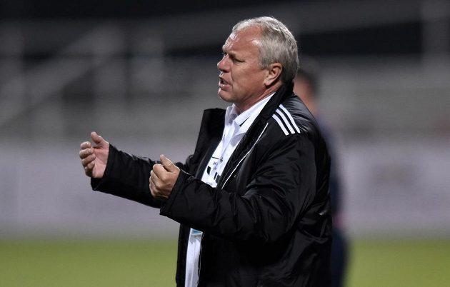 Trenér Příbrami Pavel Tobiáš během utkání 11. kola Synot ligy s pražskou Duklou.