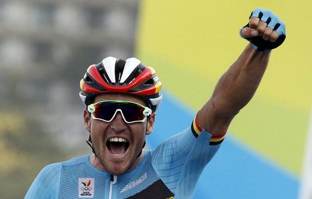 Olympijský vítěz v silničním závodě Greg van Avermaet z Belgie.