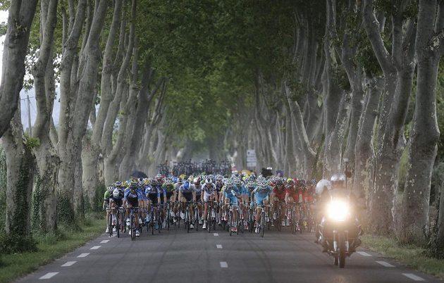 Pozoruhodná scenérie na trati 15. etapy.