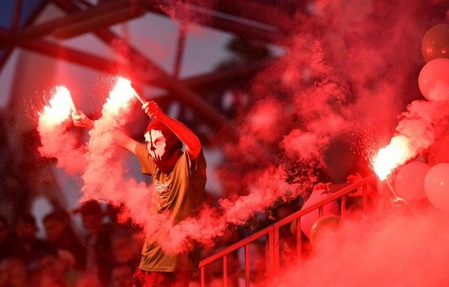 Fotbalová Slavia se potýká s problematickými fanoušky (ilustrační foto)