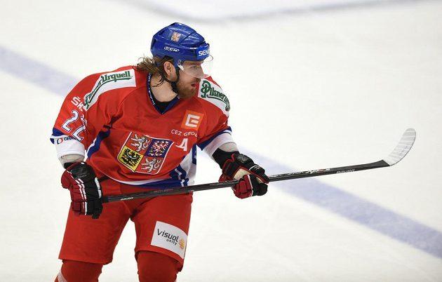 Útočník české reprezentace Lukáš Kašpar během čtvrtečního zápasu s Norskem.