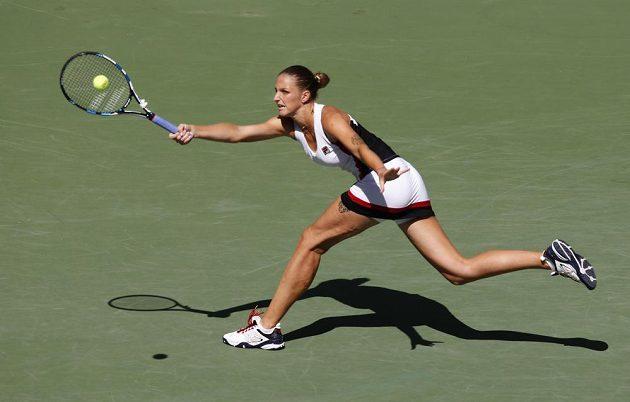 Karolína Plíšková zahájila čtvrtfinále US Open proti mladé Chorvatce výtečně.