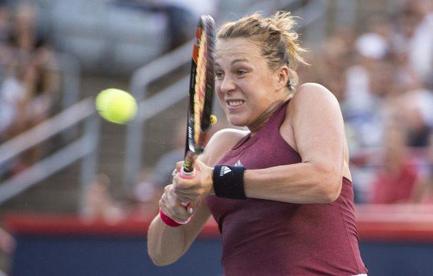 Anastázie Pavljučenková v utkání s Madison Keysovou