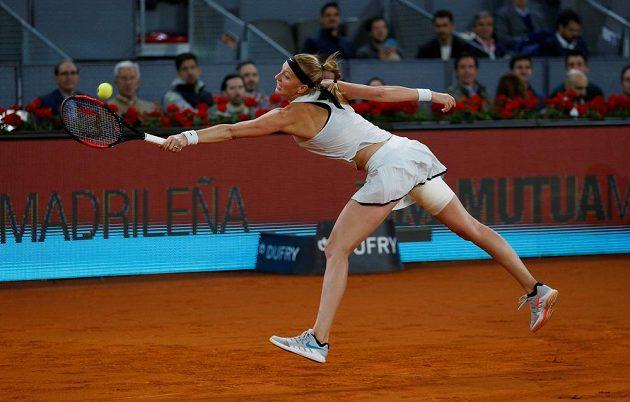 Petra Kvitová ve finále turnaje v Madridu.