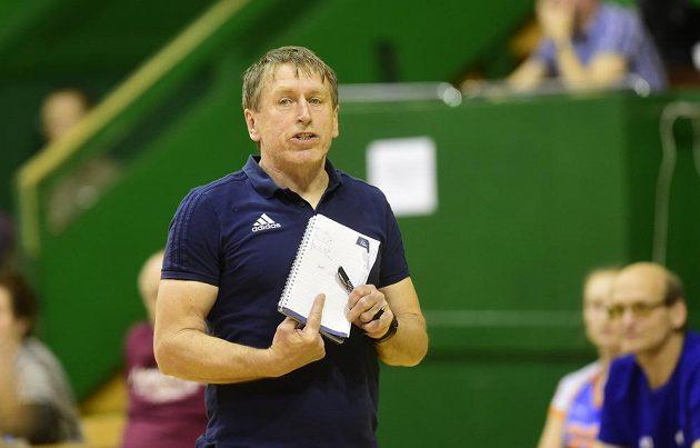 Trenér volejbalistek Olomouce Jiří Teplý.