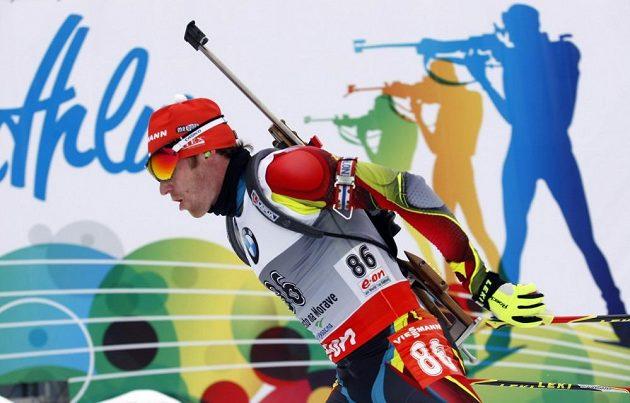 Sprint mužů, na snímku Čech Michal Šlesingr.