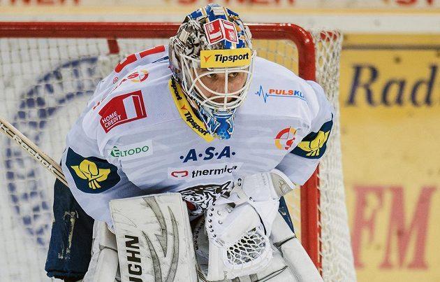 Slovenský brankář Ján Lašák v pátek nastoupil k prvnímu utkání v dresu Liberce.