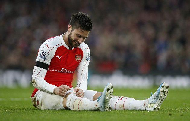 Útočník Arsenalu Olivier Giroud v zápase proti Newcastlu.
