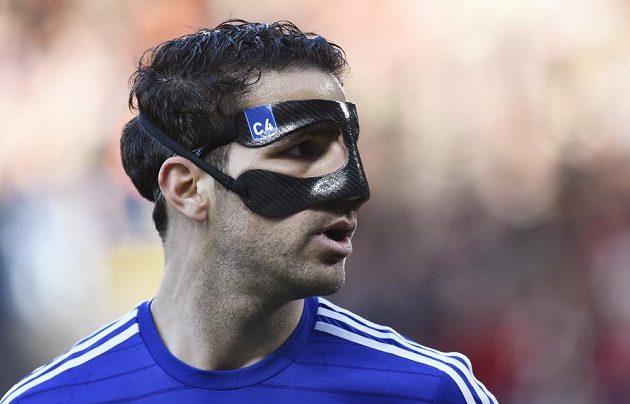 Cesc Fábregas z Chelsea odehrál šlágr v masce.