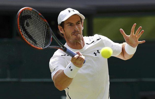 Andy Murray během finále Wimbledonu.