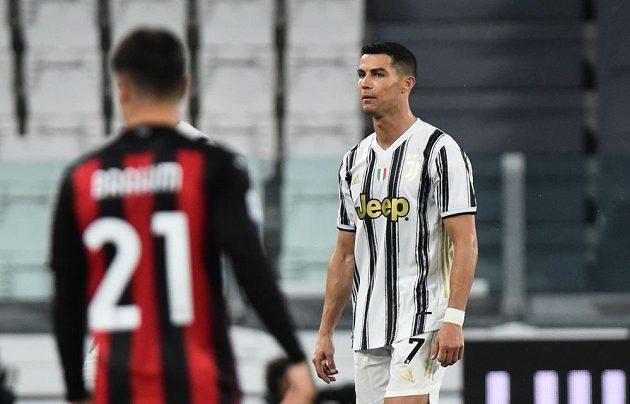 Pohled do tváře hvězdy Juventusu Cristiana Ronalda naznačuje, že šlágr italské ligy nedopadl pro Starou dámu dobře.