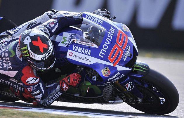 Jorge Lorenzo při kvalifikaci na GP v Brně.