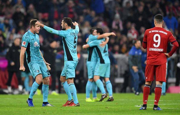 Fotbalisté Freiburgu se radují, na hřišti Bayernu uhráli remízu 1:1.