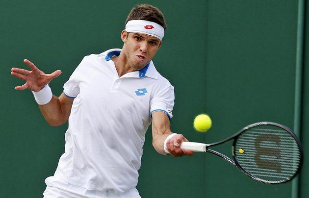 Jiří Veselý na grandslamovém turnaji ve Wimbledonu