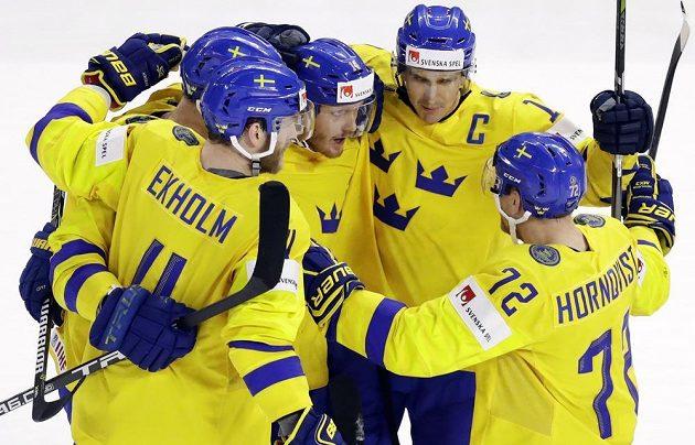 Švédská radost ve finále se Švýcary.
