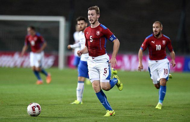 Jakub Brabec během přátelského utkání s Itálií.