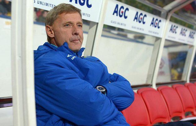 Trenér Teplic Zdeněk Ščasný během utkání se Slavií.