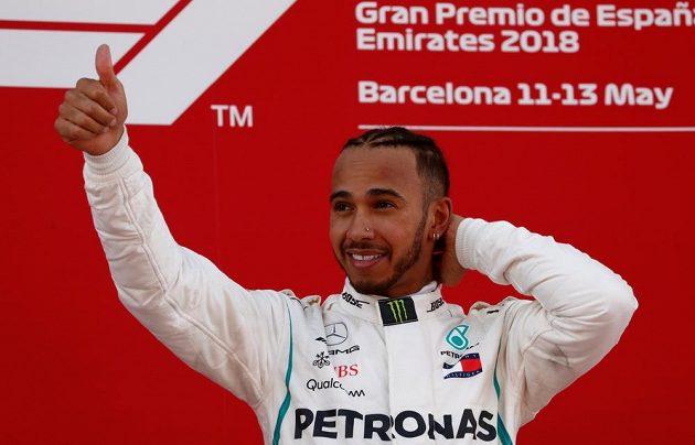 Brit Lewis Hamilton vyhrál Velkou cenu Španělska F1.