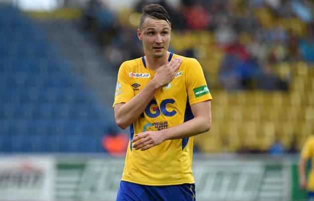 Teplický Michal Jeřábek, autor gólu v utkání s Bohemians.