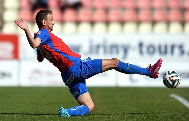 Plzeňský útočník Marek Bakoš střílí gól na 0:1 během utkání 1. kola Synot ligy proti Příbrami.