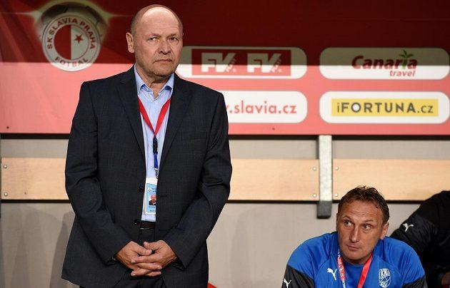 Miroslav Koubek (vlevo) se vrátil do Edenu jako trenér Viktorie Plzeň.