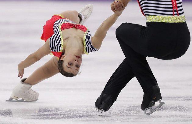 Sportovní dvojici Anna Dušková, Martin Bidař se při olympijské premiéře dařilo i ve volné jízdě.