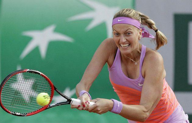 Úsilí Petry Kvitové v osmifinále French Open.