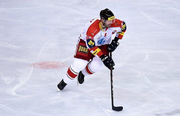 Obránce Ivan Majeský byl jediným olomouckým střelcem v utkání na Spartě.