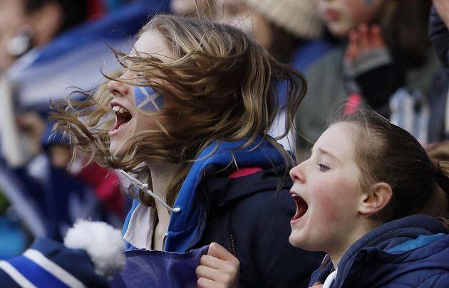 Euforie skotských fanynek.