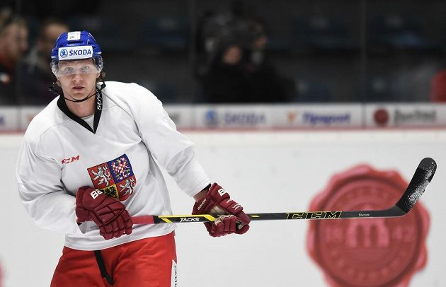 Martin Erat během tréninku hokejové reprezentace ve Znojmě.