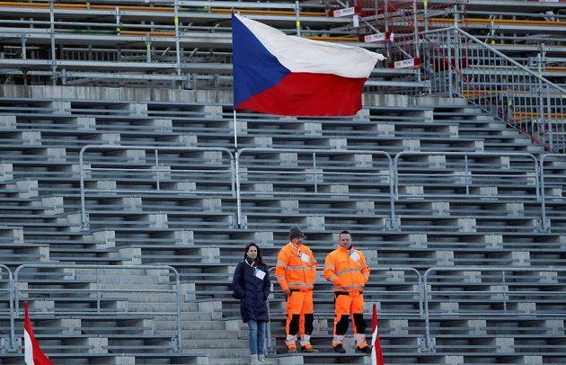 Tribuny při SP v Novém Městě na Moravě při sprintu žen