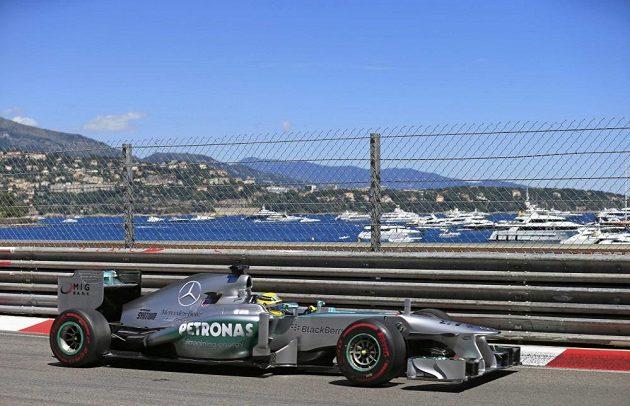 Němec Nico Rosberg na trati Velké ceny Monaka